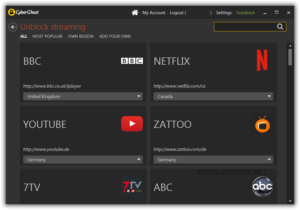 VPN Stream Unblocking