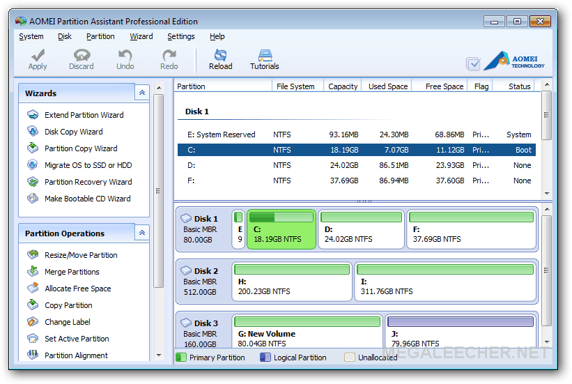 AOMEI Partition Assistant Pro Edition 5.0
