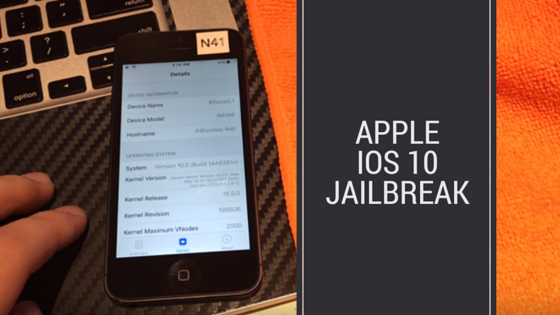 Apple iOS 10 Jailbreak