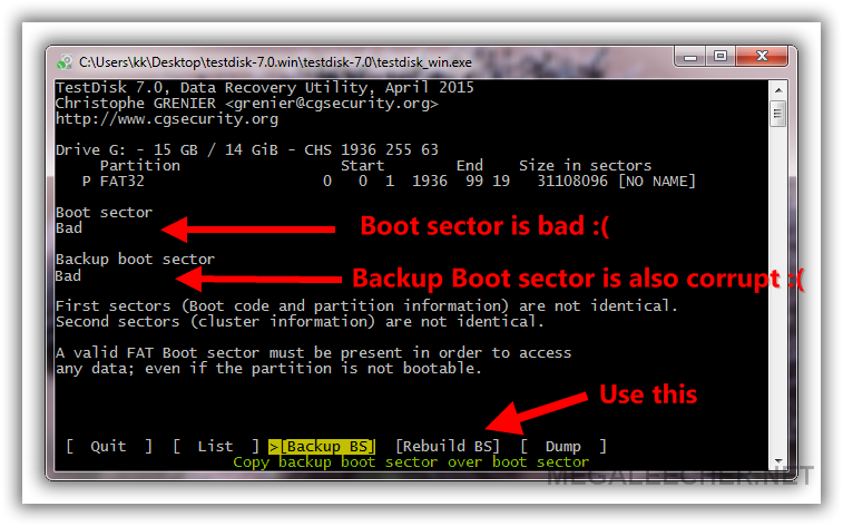 Rebuilding Boot Sector