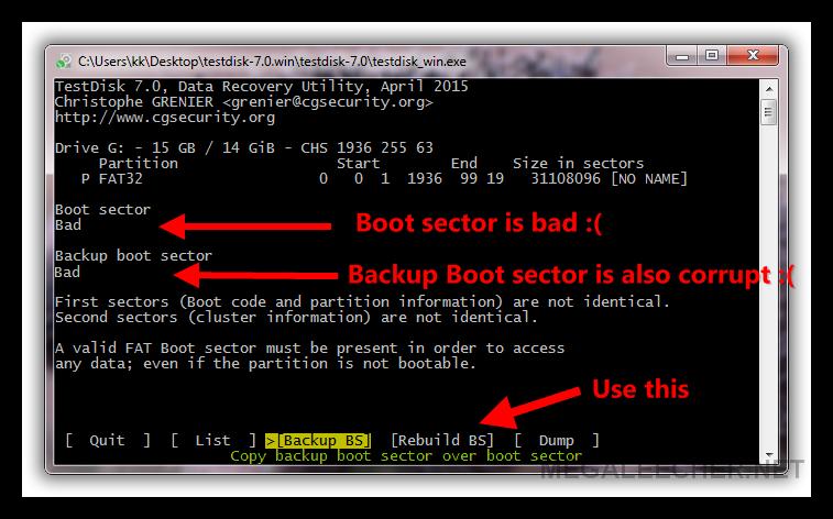 Testdisk - Rebuild file allocation table ...