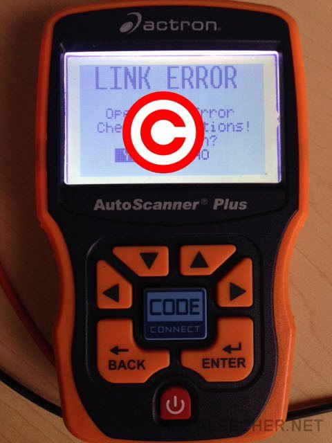 ECU OBD Connection Error