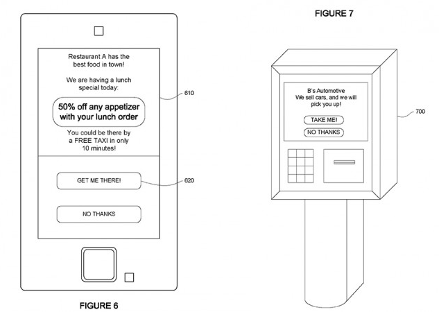 Google Taxi patent