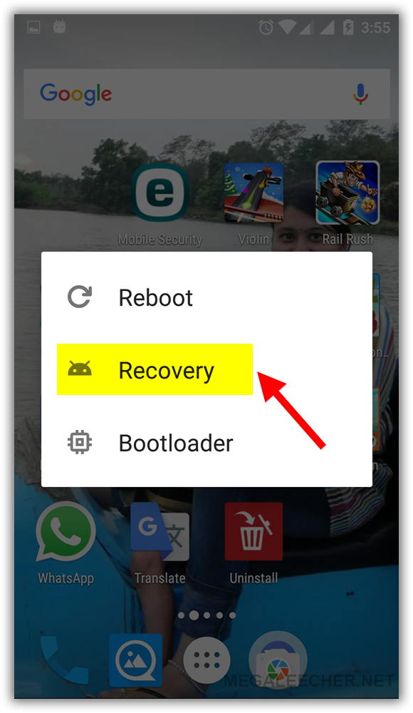 Reboot into Recovery Mode