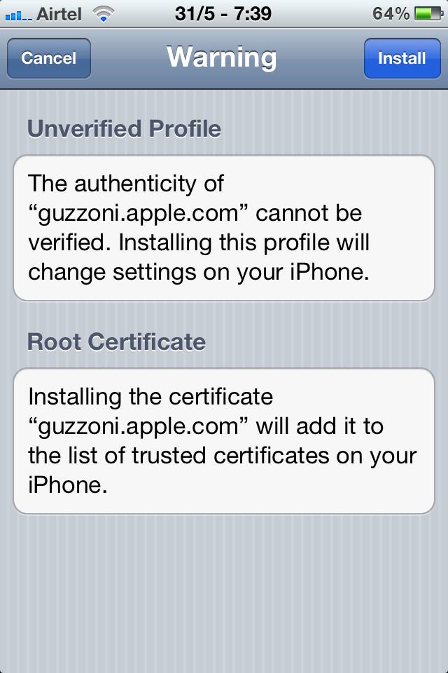 SiriPort Certificate