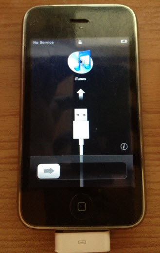 iPhone 3G at activation screen