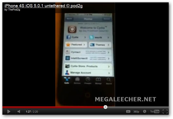 Video Demo Of A Jailbroken iPhone 4S Running iOS 5.0.1