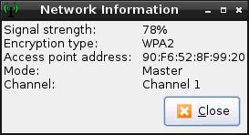 Wifi signal information