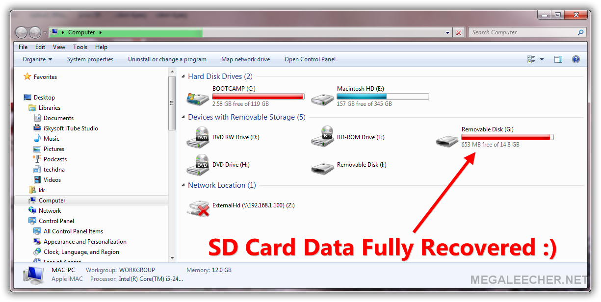 Fixed SD card getting detected by computer