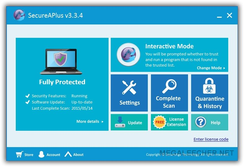 SecureAPlus Main Window