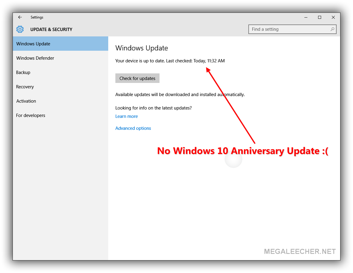 Manual Update To Windows 10 Anniversay Edition