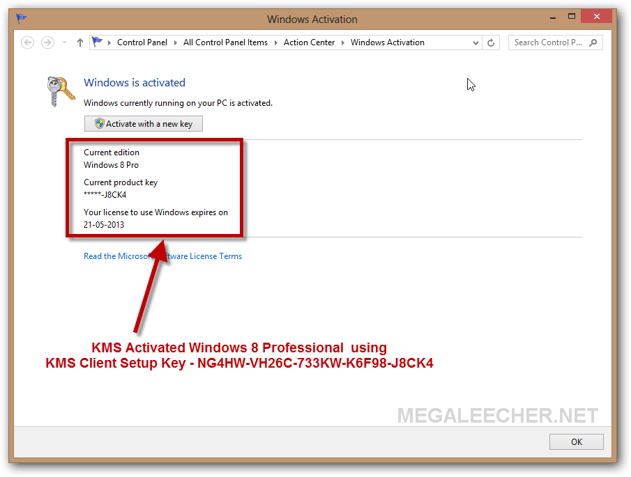 Windows 8 Keygen | Megaleecher Net