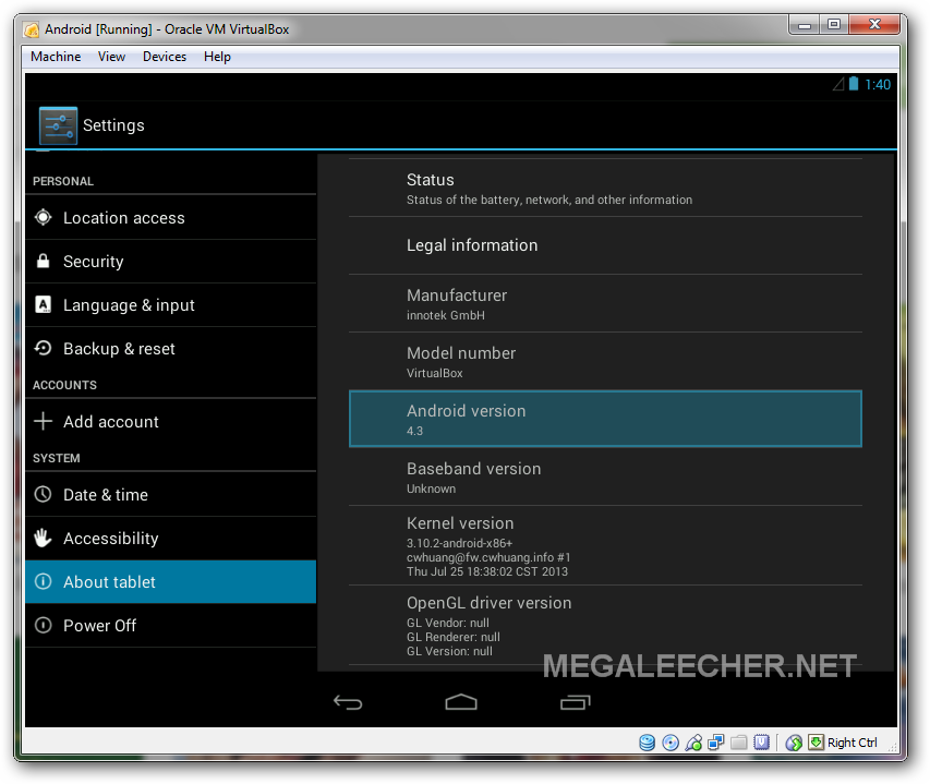 Google Android 4.3 On Windows 7 Using QEMU