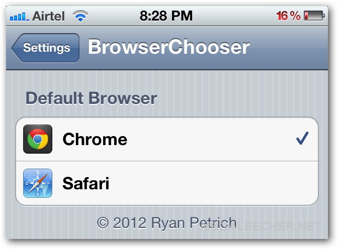Browser Chooser for iOS