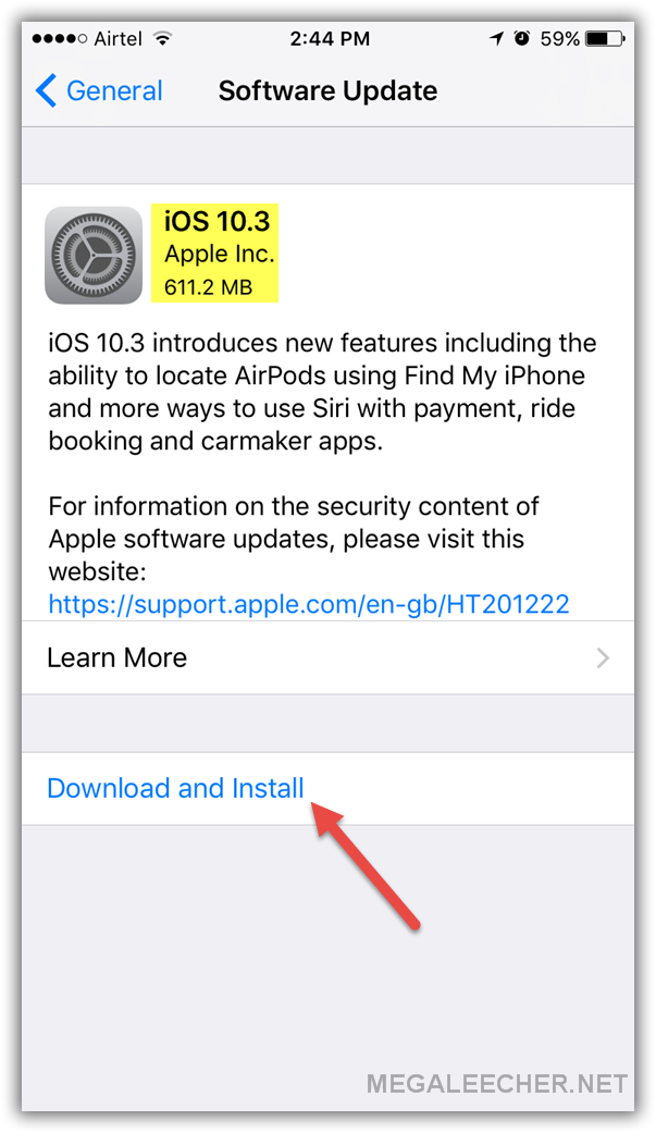 Apple iOS 10.3 Update