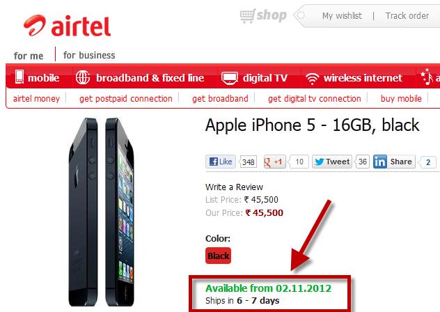 Apple iPhone 5 Airtel