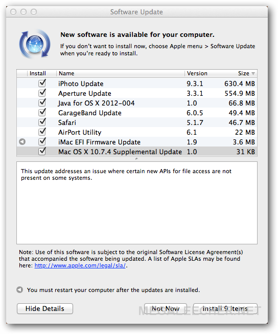 Apple MAC Update