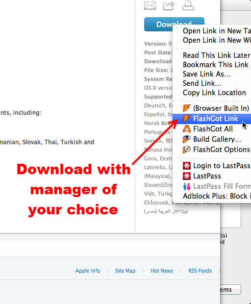 how to manually download updates from apple mac appstore
