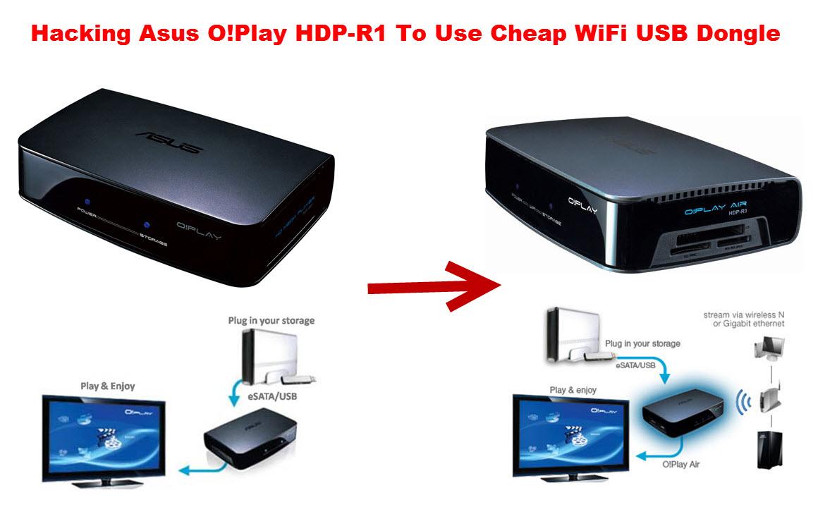 Hacking Asus O!Play into O!Play Air using cheap USB WiFi