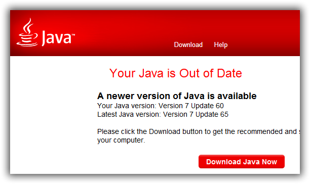 Outdated Java