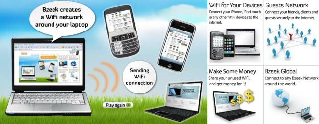 Bzeek - Free utility to enable laptop Wifi connectivity