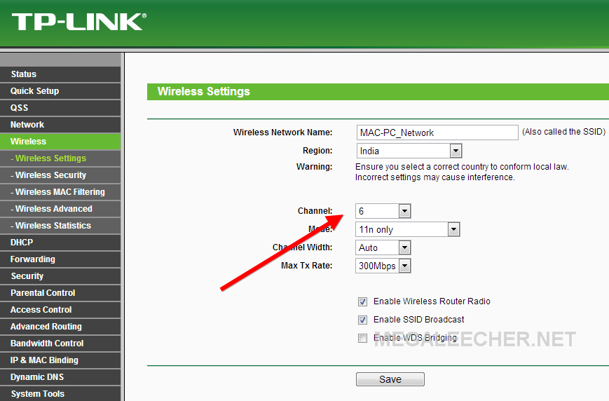 Router Wifi Channel
