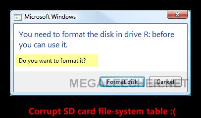 Corrupt SD Card