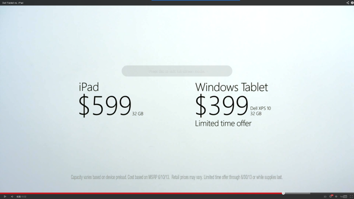 iPad Vs Windows Tablet