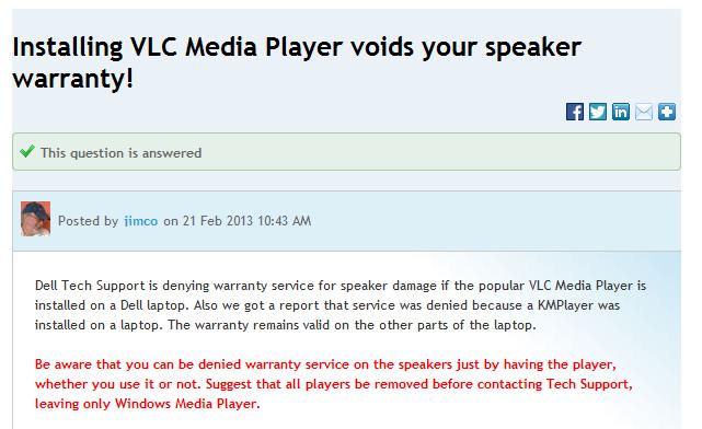 Dell Vs VLC