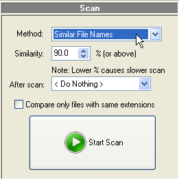 Duplicate MP3 Finder Scan