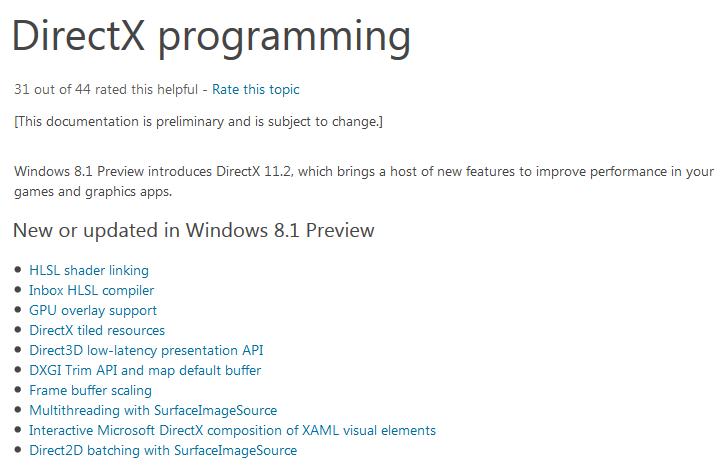 DirectX 11.2