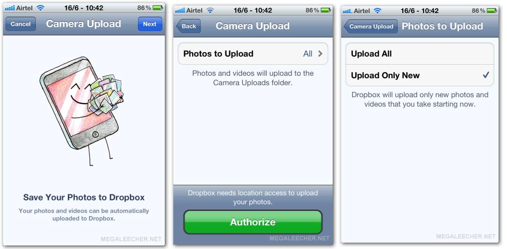 dropbox iOS