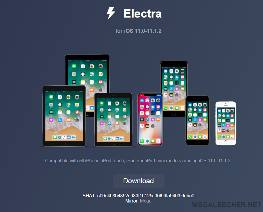 Electra for iOS 11.0 to iOS 11.1.2 Jailbreak Tool