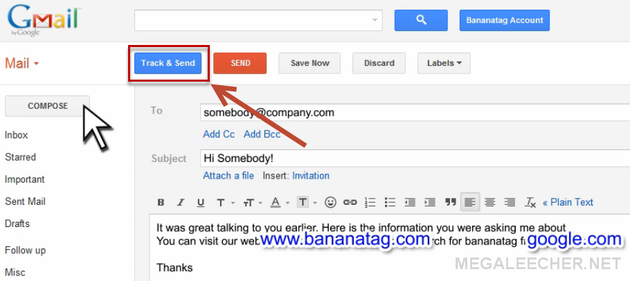 BananaTag - Free and simple email tracking | Megaleecher Net
