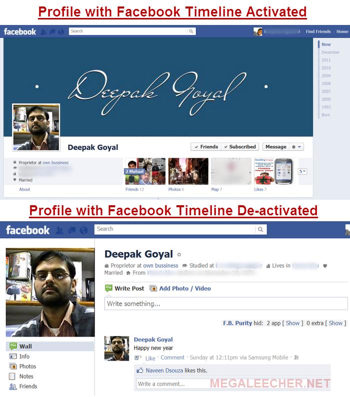 The Evil Facebook Timeline