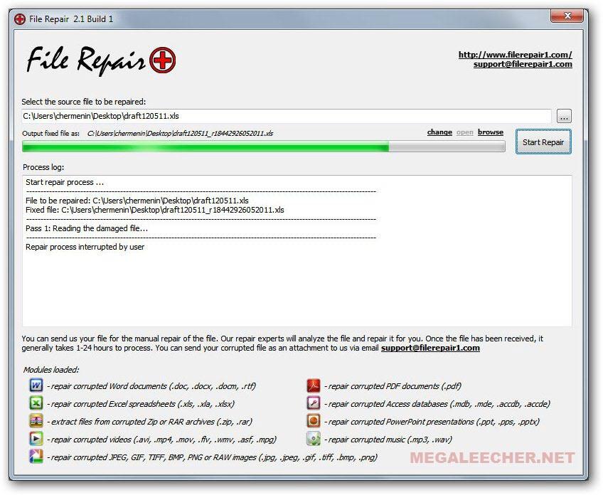 free corrupt file repairing tool