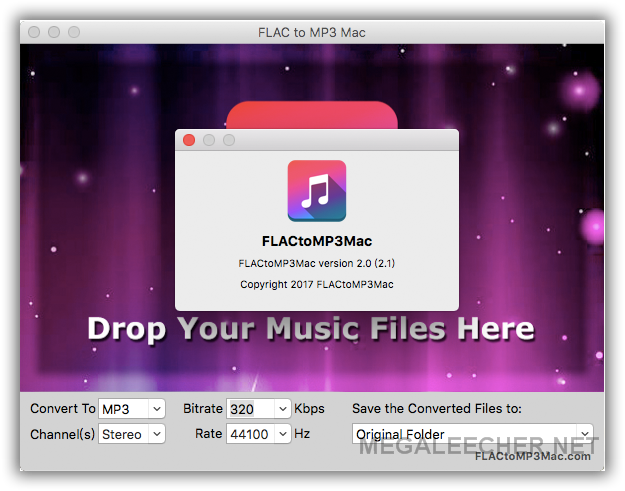 FLAC to MP3 Audio Format on MacOS