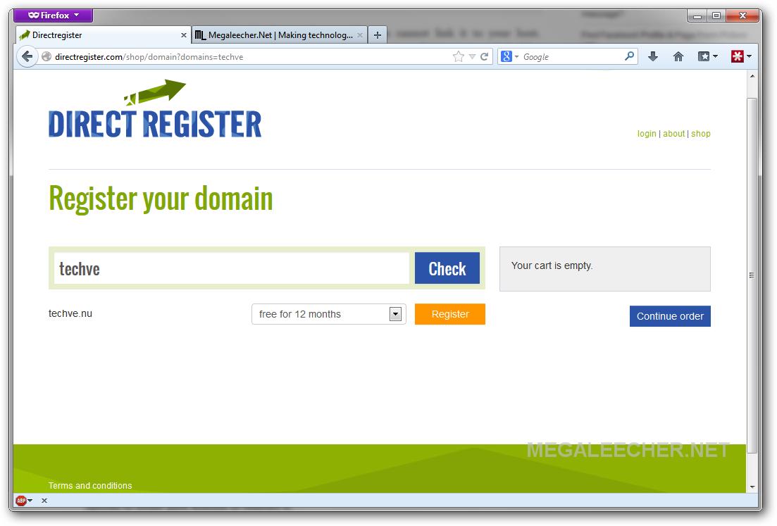 Free .Nu domain