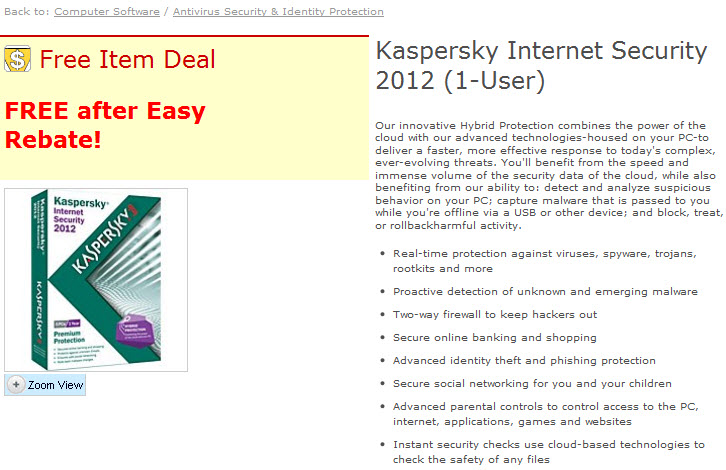 Kaspersky Internet Security 2012 Free Key