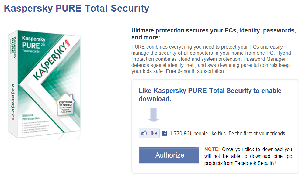 Kaspersky Pure Security