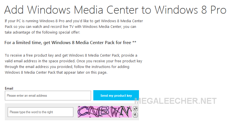 windows 8 media center key free download