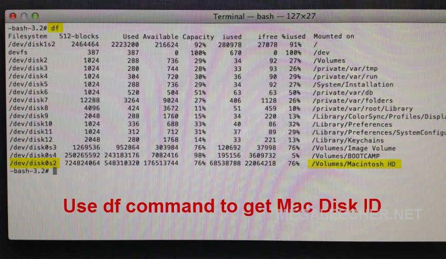Mac Disk ID