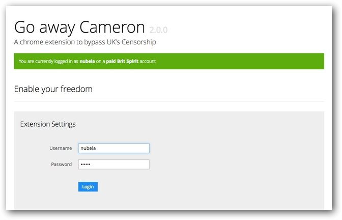 Go Away Cameron : Chrome Extension Allows Users To Bypass ISP Level