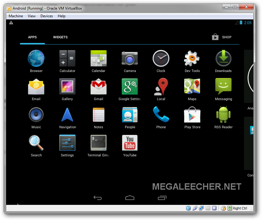 Google Android 4.3 inside virtualbox