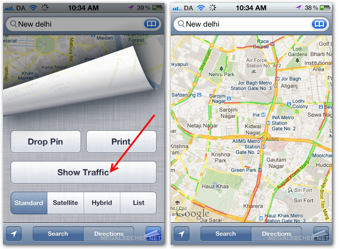 Traffic updates India on iOS