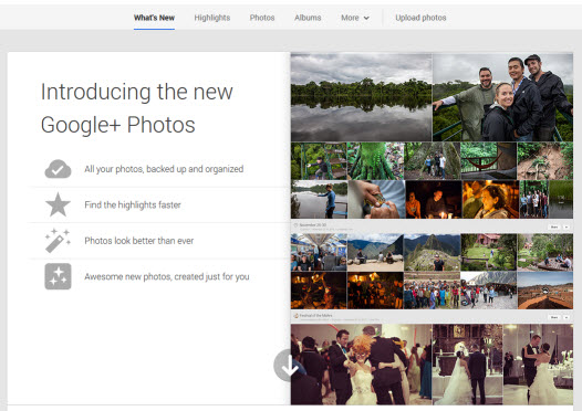 Google Plus Photo Feature