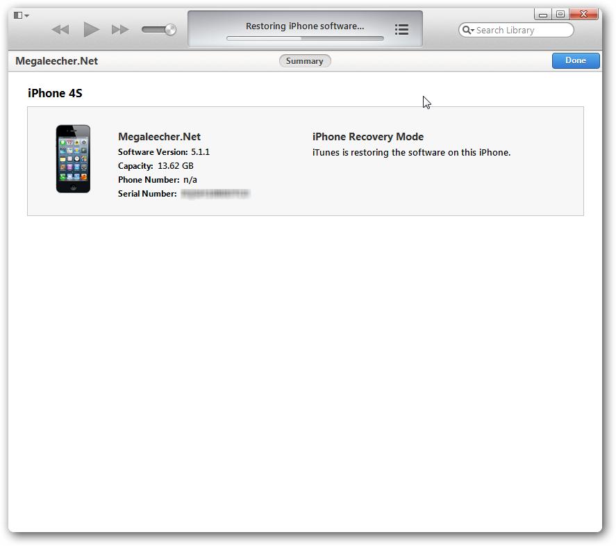 iOS 6.1 Restore process