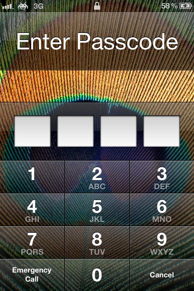 Locked iPhone 4