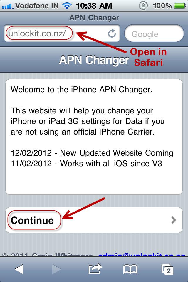 APN website