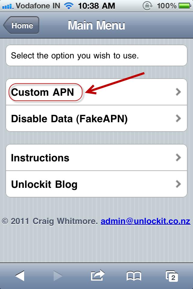 Custom APN